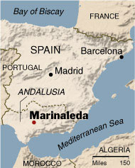 Marinaleda mapa spain