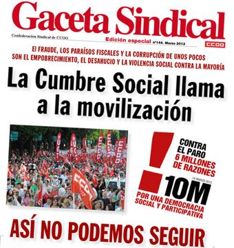 La cumble social llama a la movilización