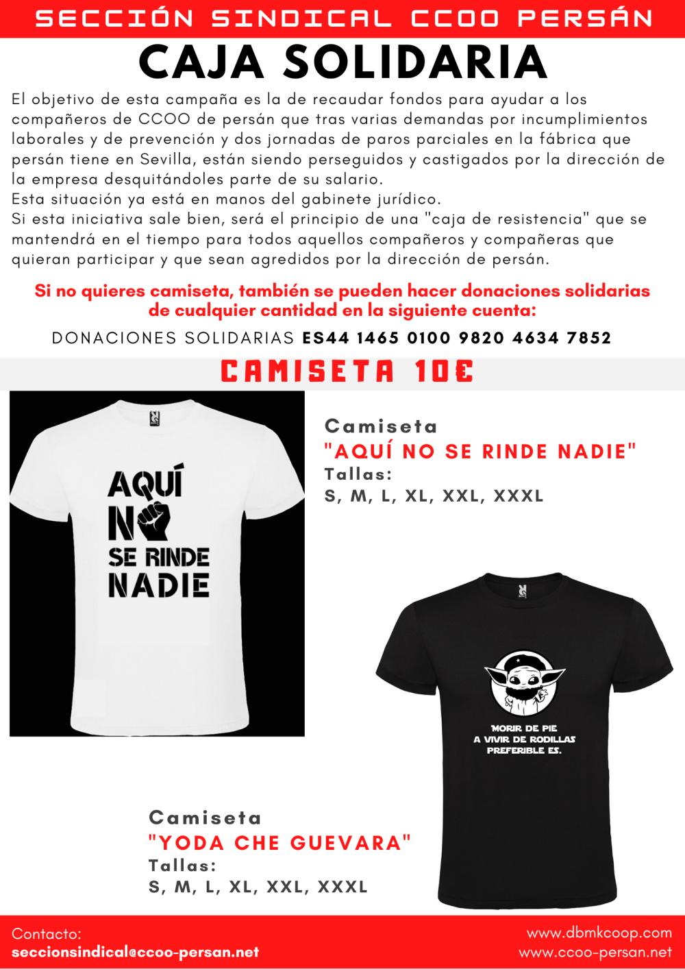 CAMISETAS SOLIDARIAS CCOO PERSÁN II